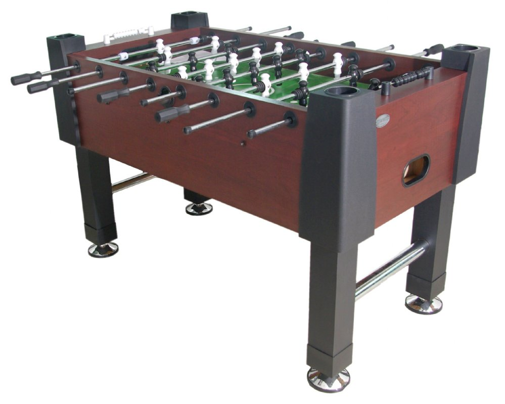 berner billiards the player foosball table in mahogany