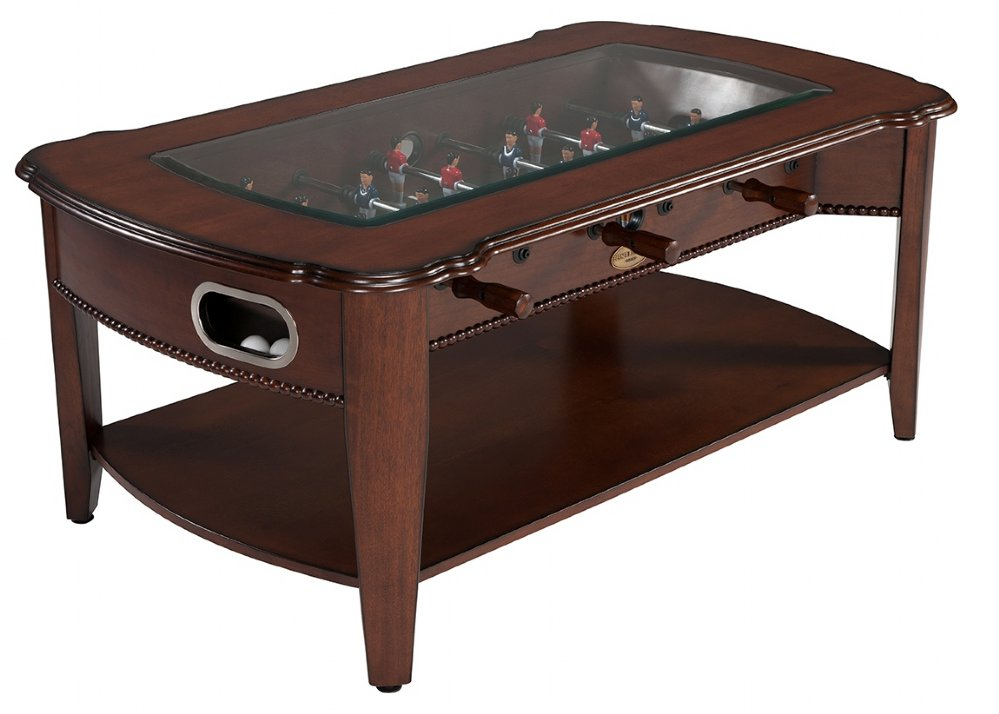 The Maxwell 2 In 1 Game Table Foosball Coffee Table In Antique