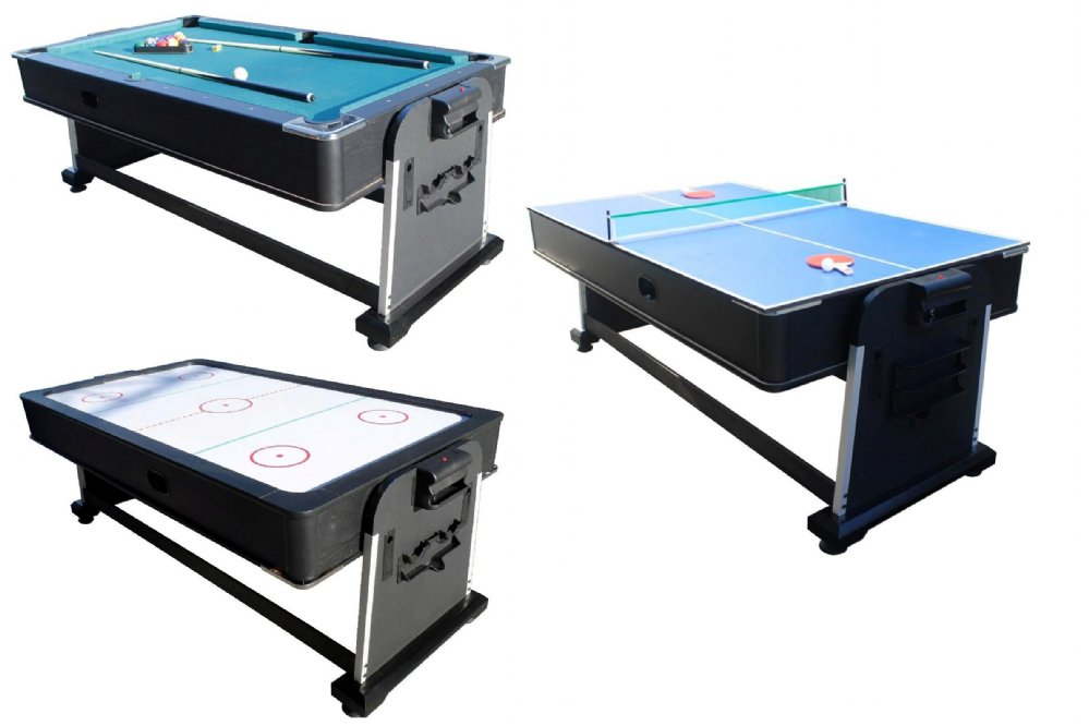 In 1 Combo Game Table Pool Air Hockey Ping Pong Roulette