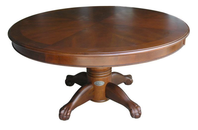Berner billiards 60 round poker table in dark walnut finish for 10 person poker table top